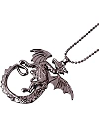 Famous Hobbit Black Fire Dragon Necklace By Via Mazzini
