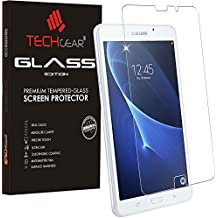 'Techgear–Protector de pantalla para Samsung Galaxy Tab A 7.0Pulgadas (SM-T280/Edition de cristal sm-t285) Genuine Funda Protector de pantalla de cristal templado