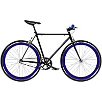 Bicicleta FIX 2 azul. Monomarcha fixie / single speed. Talla 53…