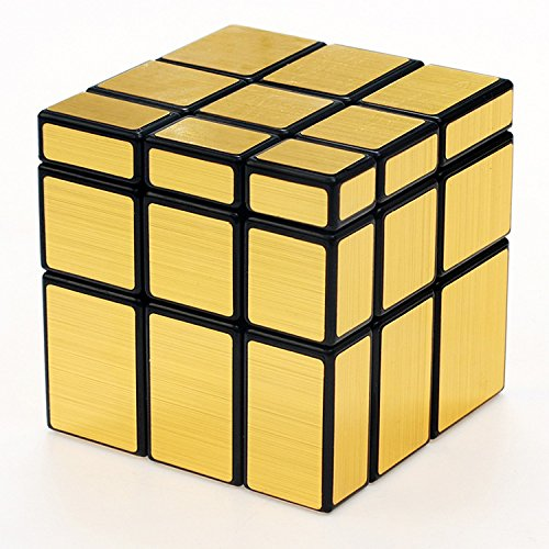 New Journey Irregular New 3 x 3 x 3Gold Mirror Cube Puzzle (jin)
