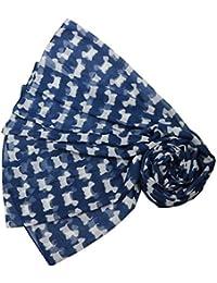 Diseño de perro con gafas azul marino de perro de raza bufanda azul y blanco bufanda traje de neopreno para mujer diseño de Terrier escocés West Highland Terrier diseño de perros bufanda chal para envoltorio de horóscopo