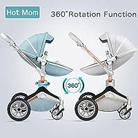 Hot Mom Fonction Poussette combinée 3 en 1 avec poussette et nacelle 2018 Nouveau design