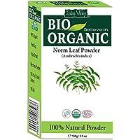 Preisvergleich für Bio 100% natürliches Neem Blattpulver mit Gratis Rezeptbuch 100g (Neem Leaf Powder)