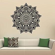 igemy Mandala flor Indian dormitorio vinilo de pared de vinilo pegatinas arte Mural casa familia negro
