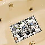 ungfu Mall pag 6pcs 13x 13cm de adoquines patrón 3d antideslizante resistente al agua bañera adhesivo