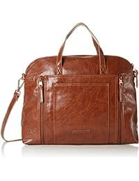 ESPRIT Mit Praktischem Innenleben, Bolso Bolera Para Mujer, Marrón (220 Rust Brown), 12x31x40 cm (B x H x T)