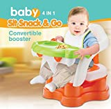 Toys Bhoomi 4 in 1 Sit Snack & Go Safe and Secure Non-Slip Baby Dining Table Bath Seat