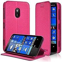 KARYLAX Seluxion - Housse Coque Etui à rabat latéral Fonction Support  Couleur Rose Fushia pour Nokia 2524bc61e13