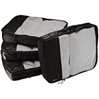 AmazonBasics 4-Piece Packing Cube Set - Large, Black
