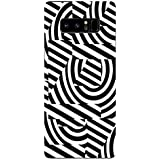 Samsung Note 8 Cases And Covers White And Black Random Pattern Geometry Designer Printed Hard Shell Case