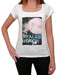 Palms Beach Noir T-shirt Femme,Blanc, t shirt femme,cadeau