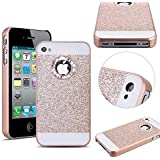 MOMDAD Coque pour iPhone 6 6S Cover Bing PC le Plastique Premium Luxe Diamant Strass Hull Housse Coque Coquille pour iPhone 6 6S Case - Or