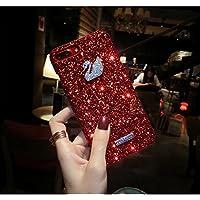 Móvil para iPhone 7Plus, iPhone 8Plus protección completa del teléfono móvil Fundas, herbests brillo Bling Cristal Glitter suave TPU marco resistente a los arañazos. Back Cover Funda Case Silicona Funda Para IPHONE 7/8Plus, Crystal ultrafina de protección [Thin Fit] Completo Teléfono 360grados de Carcasa Bumper Funda Para IPHONE 7/8Plus de corona Rojo