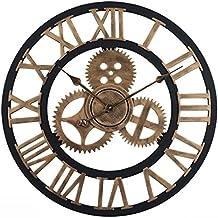 1bbabe13e2ee7 OviTop 60cm Horloge Murale XXXL Pendule Industriel Horloge Silensieuse  Horloge Decorative pour Salon