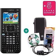 Texas Instruments Streberpaket: TI Nspire CX CAS + Erweiterte Garantie + Ladekabel + Schutzfolie + Lern-CD (auf Deutsch) + Schutztasche