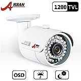 ANRAN 1200TVL 960H seguridad vigilancia CCTV HD cámara con visión nocturna de corte de IR 3,6 mm lente día resistente a la intemperie al aire libre