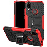Bracevor Shockproof Hybrid Kickstand Back Case Defender Cover for Xiaomi Redmi Note 7 | Xiaomi Redmi Note 7 Pro | Redmi Note 7S - Red