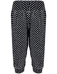 9b8631909ccb Chocolate Pickle ® Frauen Tupfen Printed Leggings Plus Size Harems-Hose  40-58