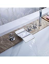 DuZiShi-slt Todos los de cobre, grifo de la bañera, grifo de la cuenca separada