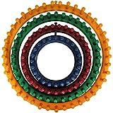 Set da 4 Telai Circolari in Plastica da Curtzy – 4 Formati:14 cm, 19 cm, 24 cm, 29 cm - Perfetto per Principianti e Professionisti con Istruzioni