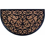 Esschert Design  Esschert Design, Rubber doormat/cocos halfround, RB07, Rubber and coir, 75x45x1 -