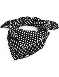 2f2c196f57b sourcingmap® Femme Polyester Mode Point Rond carréÉcharpe Noir Blanc -  Femmes