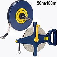 Rollbandmaß 100m 【Größenauswahl/Modellauswahl】 | Glasfaserverstärktes Material | Öse - Maßband Bandmaß Kapselmaßband Messband Maß Messen Rollmeter Rollmaßband