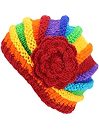 CHUNKY WOOL KNIT BEANIE HAT WITH SIDE FLOWER SHELL SHAPED FLEECE LINED 4 Colours