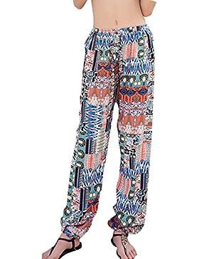 Pantalones Verano Mujer Boho Harem Pantalón Suaves Cómodos Pantalon Playa Pants