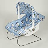 Flipzon Fun Ride Multipurpose Baby Carry Cot 9 In 1 With Mosquito Net And Sun Shade,Blue