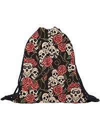 Sannysis - bolsos de mujer con cordón mochila infantil Impresión 3d