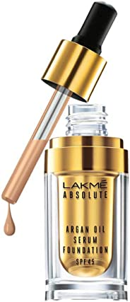 Lakme Absolute Argan Oil Serum Foundation with SPF 45, Ivory Cream, 15ml