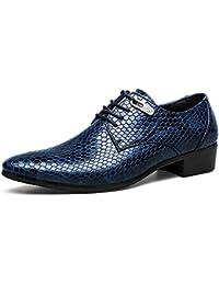 ASHION Zapatos de negocios de vestir de boda plana de Oxford zapatos para hombres
