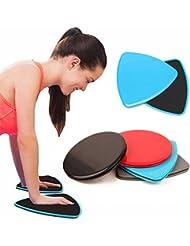 glidering–Discos deslizantes ejercicio Fitness Core Sliders deportes entrenamiento formación 2pcs, Unisex, Blue Triangle