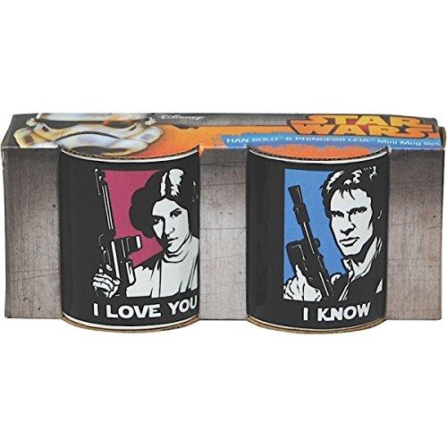 GGS Star Wars Han Solo amp; Princess Leia Mini Mug Set