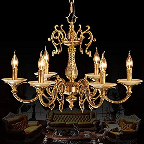 FY Stile europeo ottone lampadari in ottone lampada vintage bronzo,