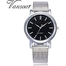 Reloj de mujer Reloj para hombres Moda Casual Negocio Deporte Cuarzo Banda de acero inoxidable Mármol Correa de reloj Cosa análoga Reloj de pulsera LMMVP (Tamaño libre, D)