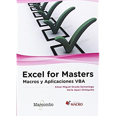 Excel For Masters   Macros Y Aplicaciones VBA PDF Download