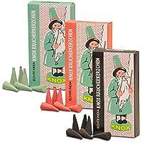 3er Pack Knox Räucherkerzen Ostalgie Design Tanne, Weihrauch-Myrrhe, Weihrauch-Sandel, 3 x 24 Stück, Weihnachtskerze... preisvergleich bei billige-tabletten.eu