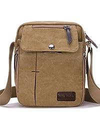 3d28d11457 SUPA MODERN® Men Small Vintage Canvas Messenger Bag Cross body bag Pack  Organizer Satchel Bag