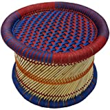Pushkar Handicraft Exclusive Product Cane Bar Stool for Indoor and Outdoor Furnishings 1-Piece (Multicolour, 17)