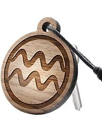 """Schlüsselanhänger aus Holz mit Sternzeichen Gravur """"Wassermann"""""""