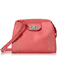 Calvin Klein Clementine Mercury Leather and Celestial Stud Embellished  Crossbody 59a4893f4c1c5