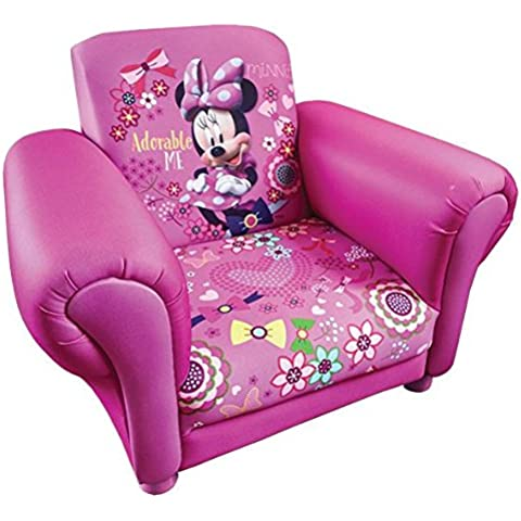 Disneys Kids Minnie Mouse dibujos animados silla tapizada