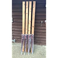 """4 x 75mm (3"""") Timber Fence Post Grip Like Metpost & 4 x wooded 75x75 1.8 high Treated posts"""