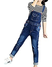 1dbcbf2448d607 ShiFan Mädchen Kinder Latzhose Freizeit Jumpsuit Lang Overall Jeans mit  Hosenträger