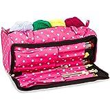 Sac à tricoter, aiguille à coudre Accessoires et Craft Organiseur Étui de rangement en rose Polka Dot