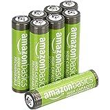 AmazonBasics vooraf opgeladen NiMH AAA-batterijen - oplaadbare batterijen, 500 cycli (typisch 850 mAh, minimaal 800 mAh), verpakking van 8 stuks (buitenkant kan afwijken van de afbeelding).