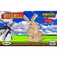 Comparador de precios Puzzled 1501 Windmill 3D Natural Wood Puzzle - 78 Pieces by Puzzled - precios baratos