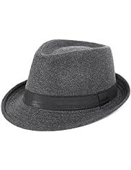 BBDM Visera de al aire libre de los hombres Moda color sólido sombrero , gray
